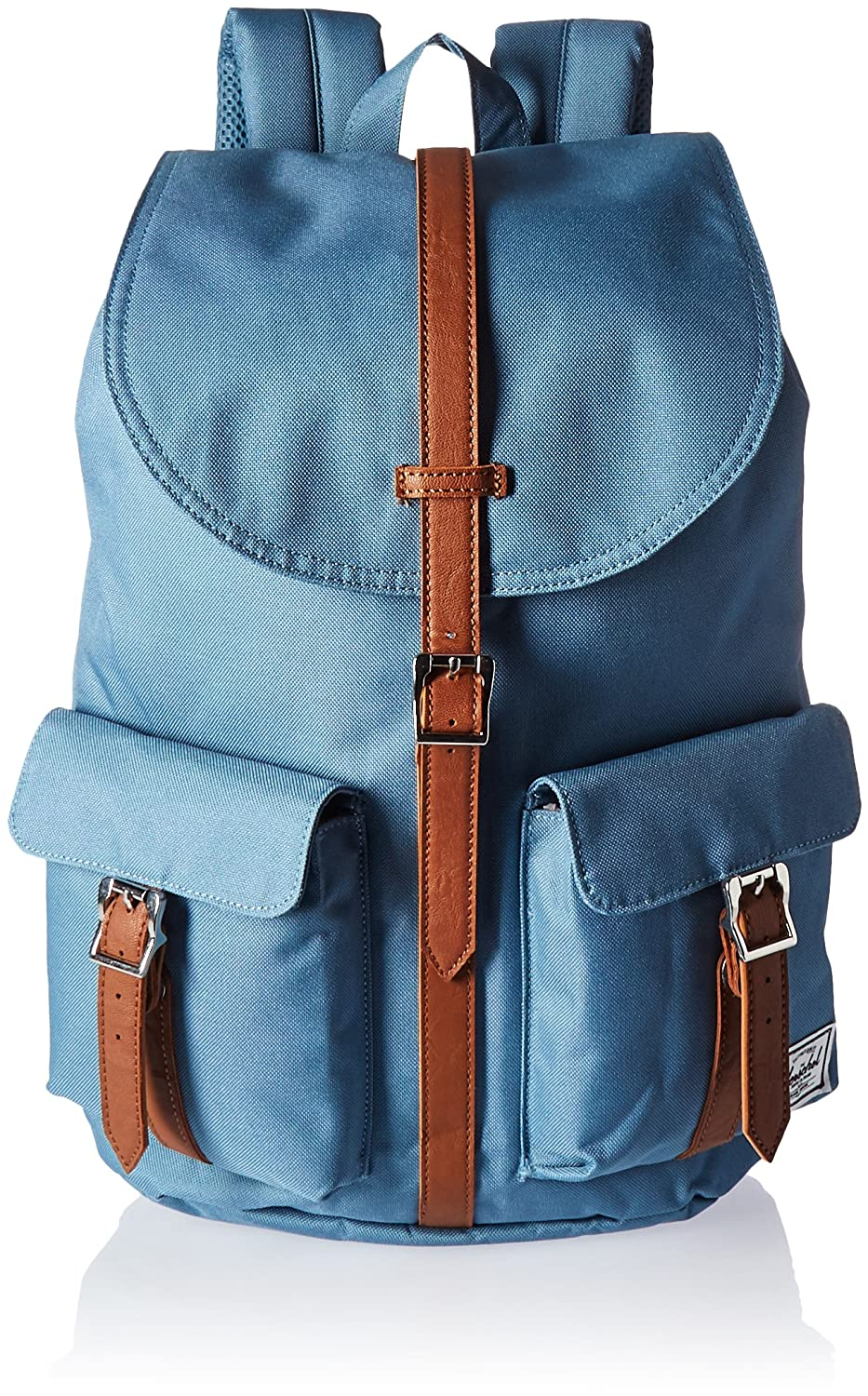 Herschel Dawson Womens Lunar Rock/Black Died Veggie Tan Leather Herschel Supply 10210-00950-OS