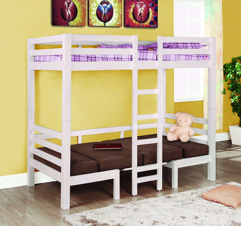 amazoncom coaster fine furniture 460273 convertible loft bed twin white finish kitchen dining bunk beds casa kids
