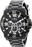 Invicta Pro Diver Men's Quartz Watch with Black Dial Chronograph Display and Black PU Strap 18168