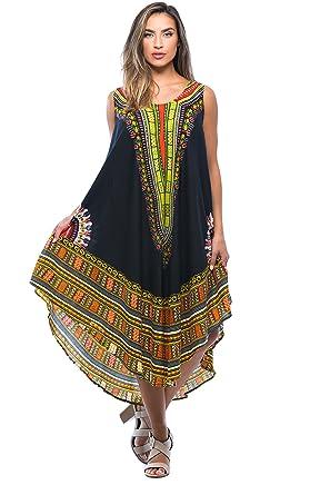564ce7f0ef9 Riviera Sun African Print Dashiki Dress for Women at Amazon Women s ...
