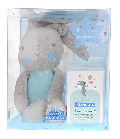 Klorane Bebe Eau De Bebe 50 Ml + Free Blue Bunny Baby Gift