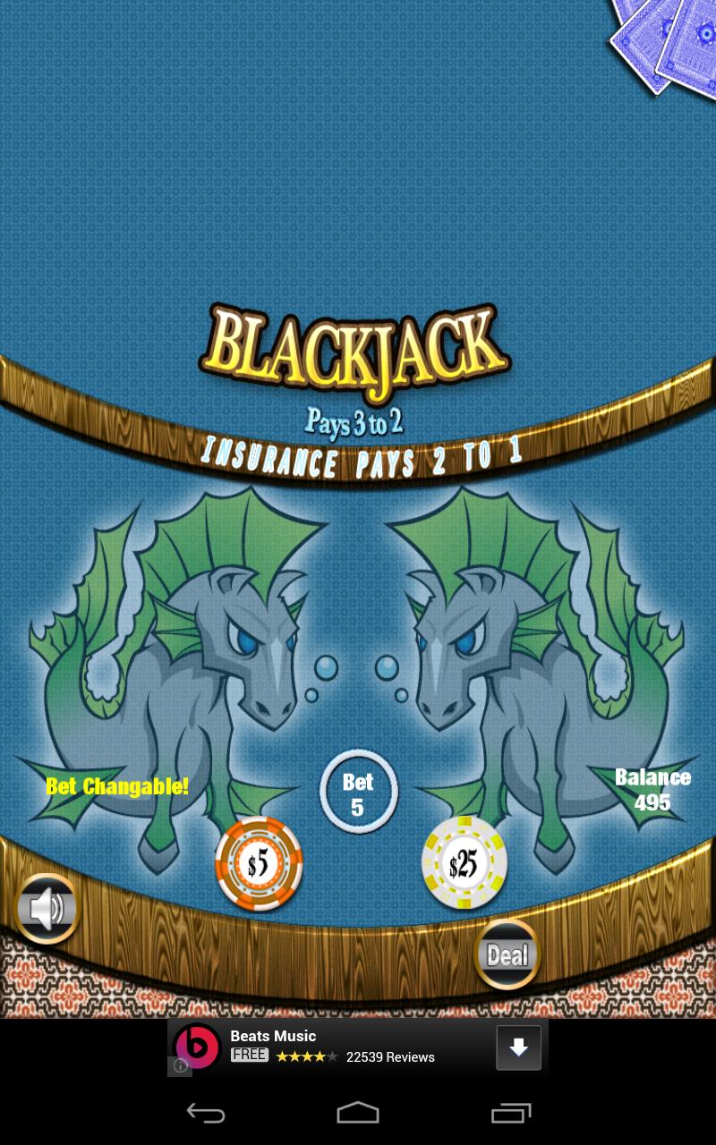 Blackjack Mutant Seahorses Swim