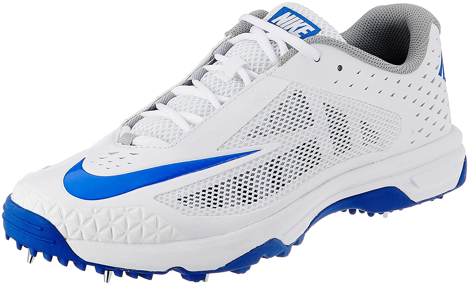 save off 6872c e5d84 ireland nike lunar dominate 2 cricket shoes nike mens domain white racer  blue and metallic silver