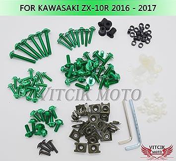 CNC Fairing Bolt Kit Bodywork Screws for Kawasaki Ninja ZX10R 2006 2007