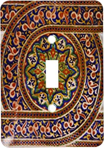3dRose lsp_164779_1 Photo of Mosaic Wall Décor, Marrakesh, Morocco, Photo by Rhonda Albom Light Switch Cover