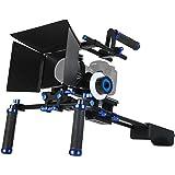 Morros DSLR Rig Set Movie Kit Shoulder Mount Rig + Follow Focus + Matte Box + Adjust Platform+ C Shape Support Cage +Top Handle for All DSLR Cameras and Video Camcorders