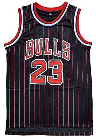 d953316039c Michael  23 Basketball Jersey Mens Retro Athletics Jersey Red White Black Strip  S-