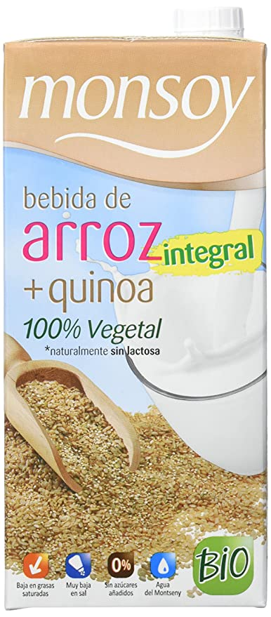 Monsoy Arroz Integral Quinoa Bebida Vegetal - 4 Paquetes de 4 x 1000 ml - Total: 4000 ml: Amazon.es: Alimentación y bebidas