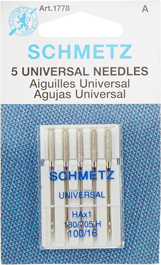 Euro-Notions Universal Point Machine Needles 5 per Package Size 9