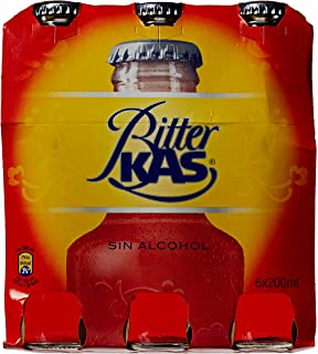 Bitterkas Bitter Kas refresco - Pack de 6 x 20 cl - Total: 120 cl