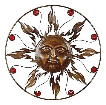 Amazing Große Metall Sonne   82cm   Wanddeko Bronze Braun Garten Deko Outdoor Mit  Gesicht