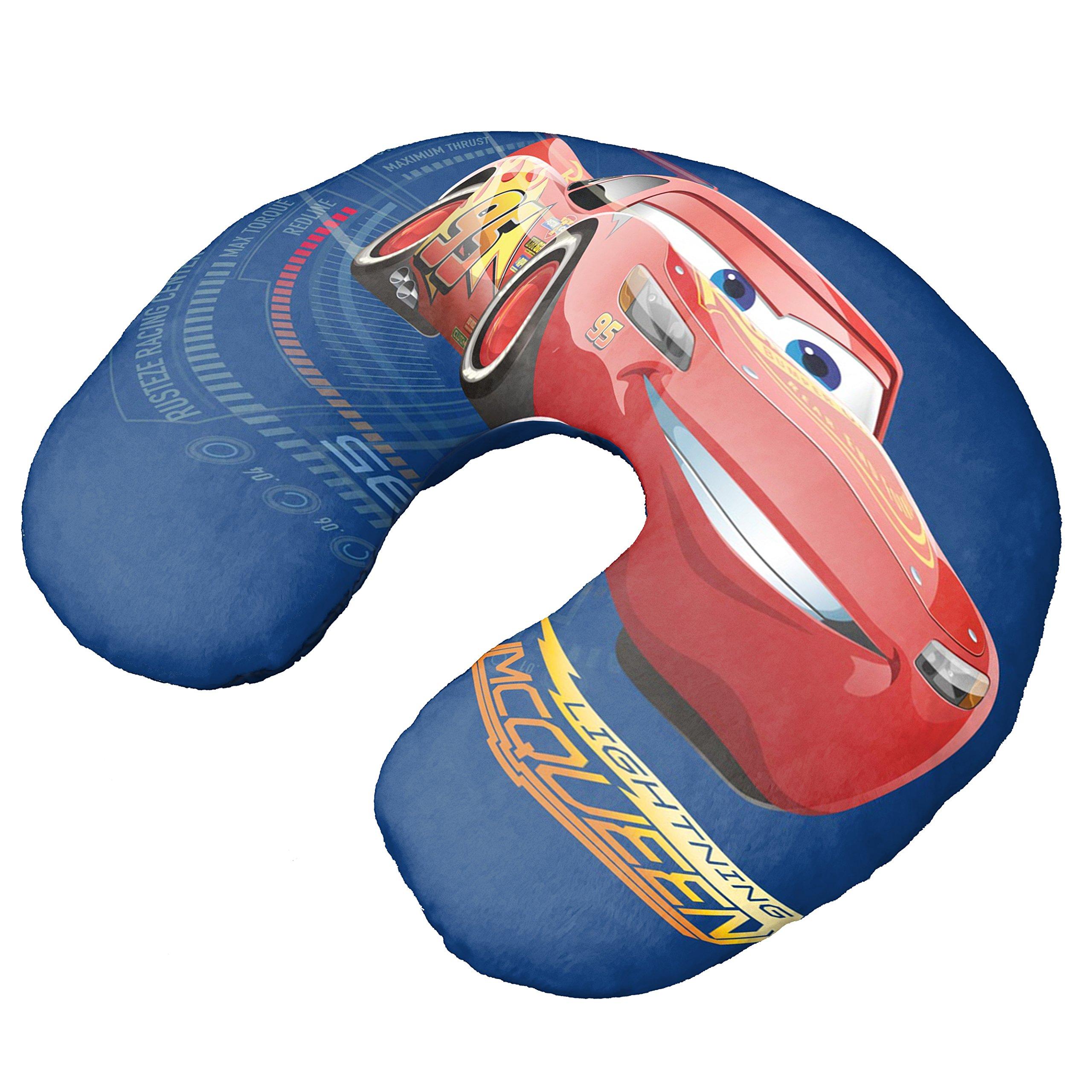 Disney/Pixar Cars 3 Movie Speed Lightning Mcqueen Blue Neck Pillow