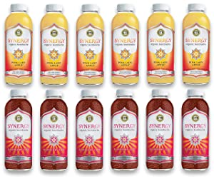 LUV BOX-Variety GT's KOMBUCHA Synergy Kombucha Pack,16 fl oz,12 pk,Pink Lady Apple , Raspberry Chia