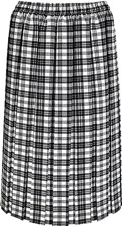 94458c810ac081 KK Fashion Lines Jupe avec quilles de style écossais, taille élastique,  68,6 cm de long, pour femmes