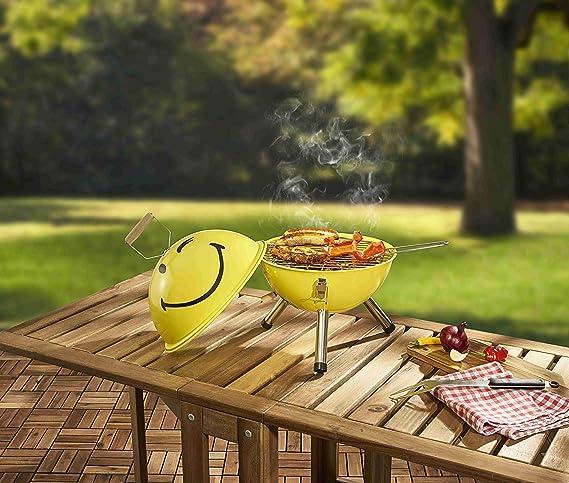 Unbekannt Mini Barbecue à Charbon de Bois au Design rétro
