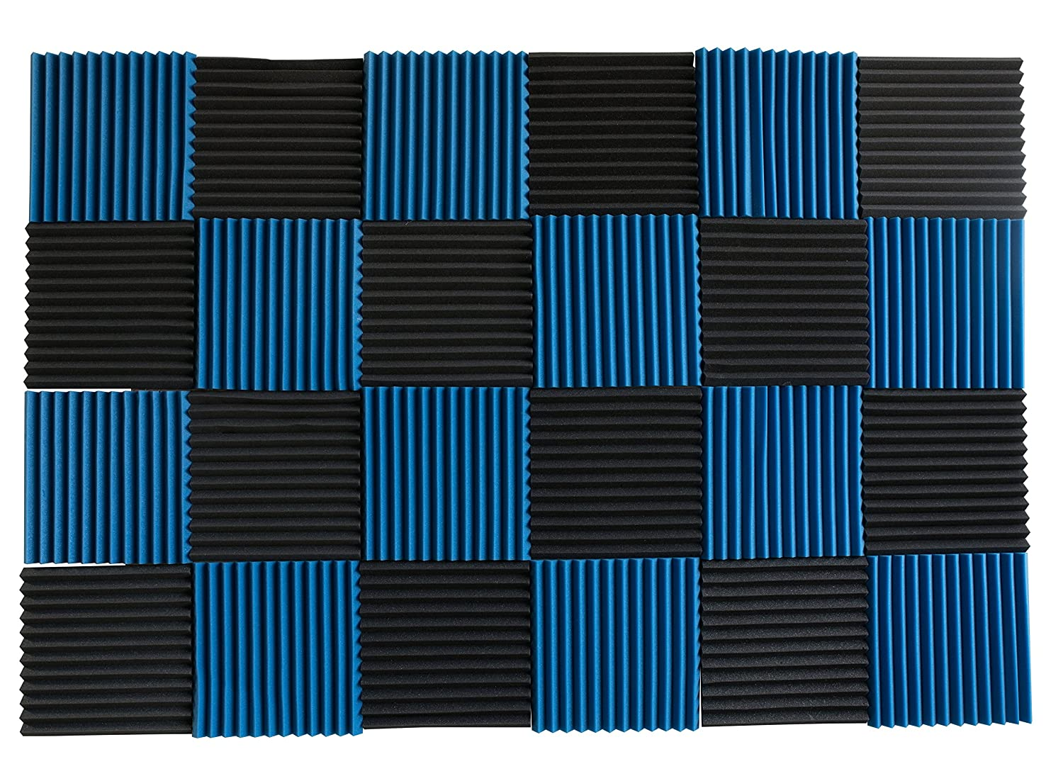 24 Pack - All Ice Blue Acoustic Panels Studio Soundproofing Foam Wedges 1