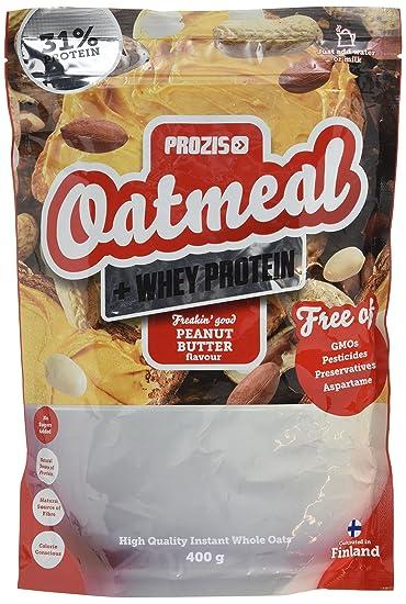 Prozis Oatmeal con Whey Protein 1000g - Cereales Repletos de Hidratos de Carbono de Alta Calidad y Fibras Saciantes -Sabor Tarta de Queso con Fresas -Apto ...