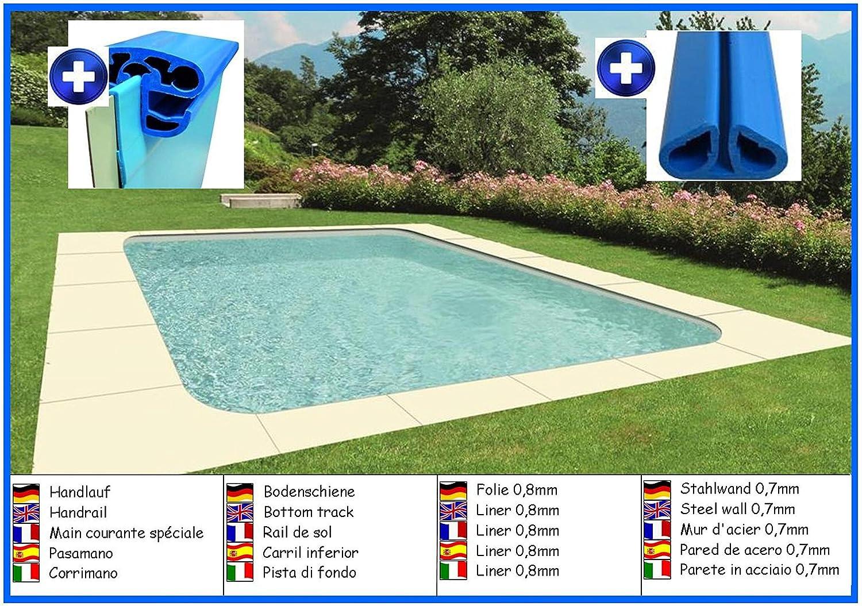House of Pools Piscina de Pared de Acero Forma de Rectangular 3 ...
