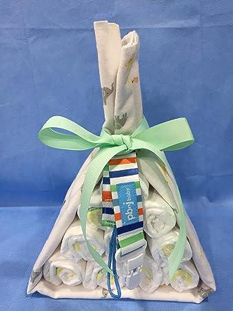 Amazon.com: Mini Stork Bundle Diaper Cake con Zoo Print ...