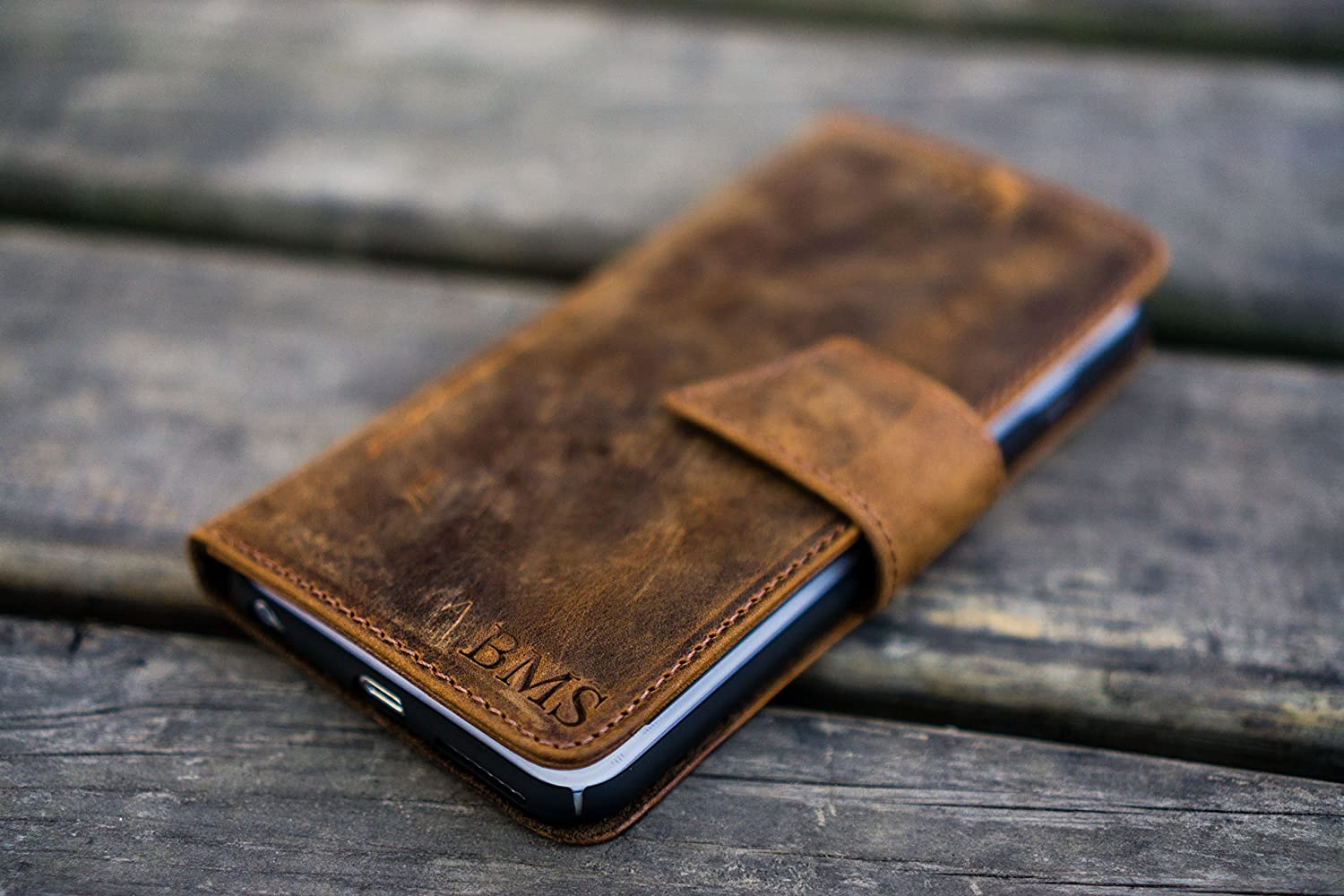 Leather iPhone 7 Plus Wallet Case - No.02