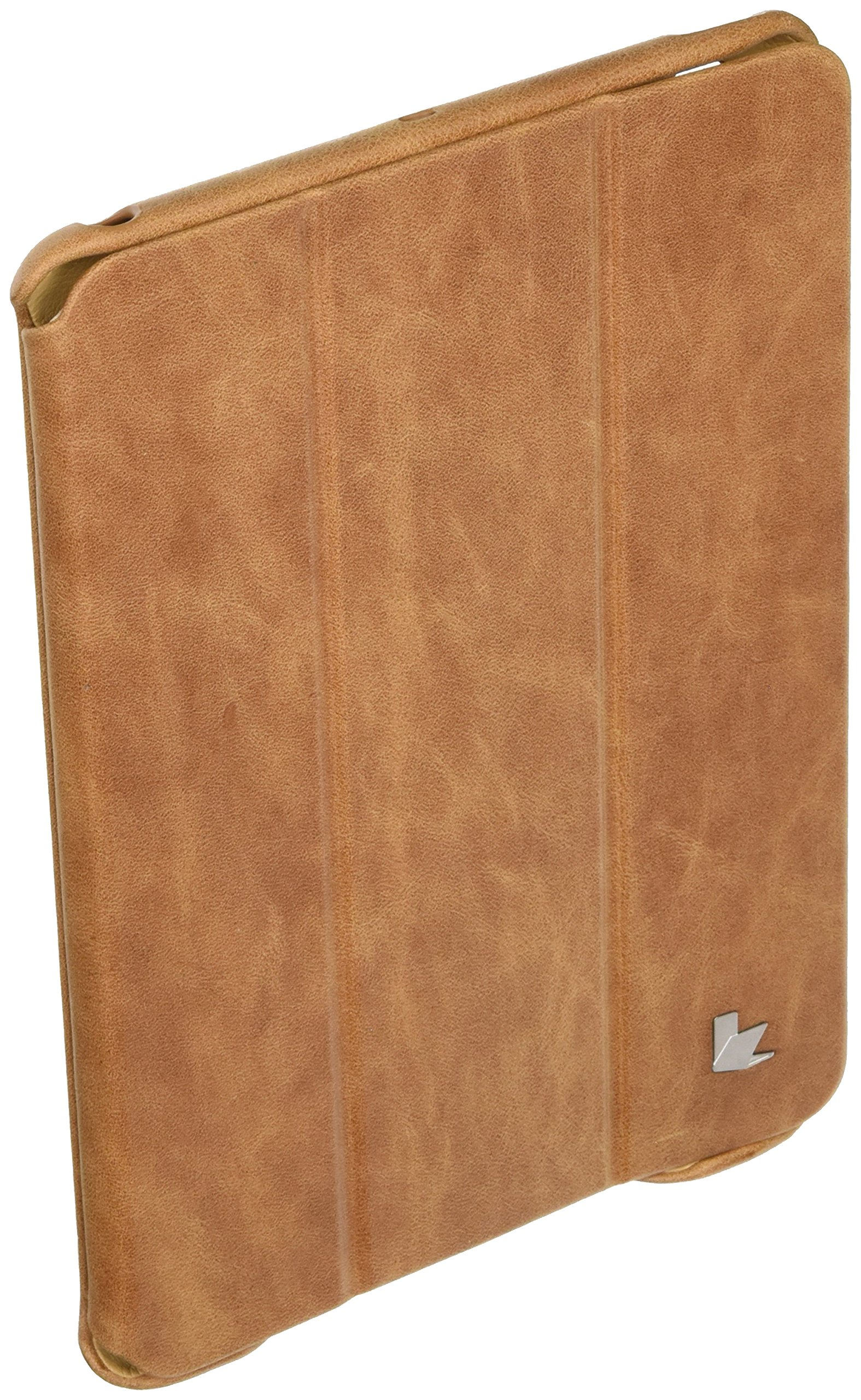 Jisoncase Vintage Genuine Leather Smart Cover Case for iPad mini with Retina Display (JS-IM2-01A20)
