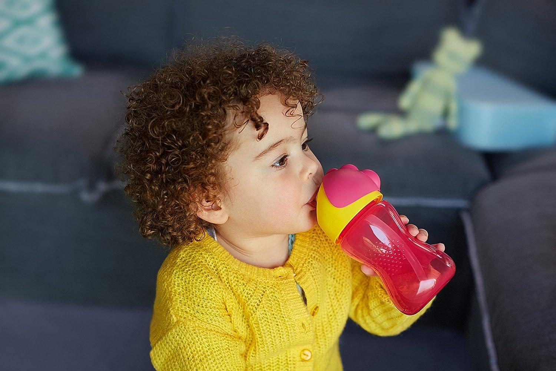 Rosa und Gelb 260 ml Philips Avent Tasse mit Strohhalm