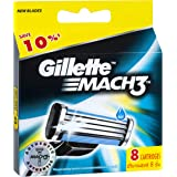 Gillette Mach3 Men's Razor Blades Refill Cartridges, 8 Pack, Mens Razors / Blades, Packaging may vary
