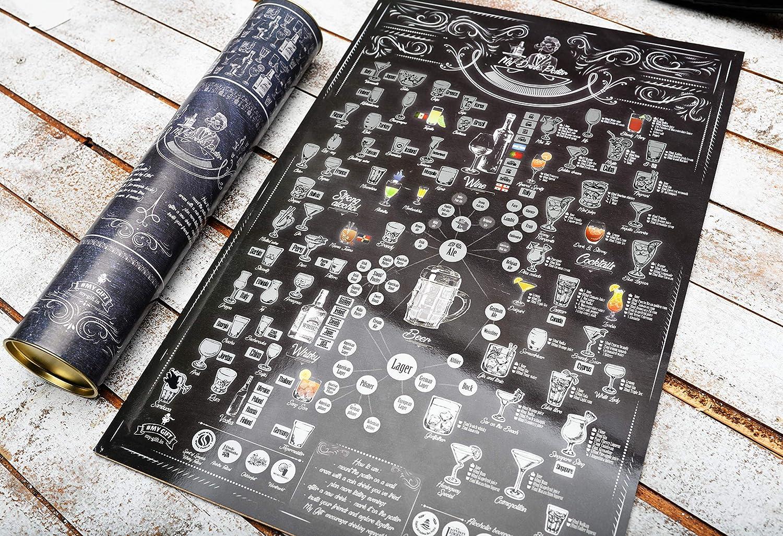 XXI Secolo Idea Regalo Compleanno Anniversario Poster da Grattare MyMap 350 Film Lista Desideri Cinematografica Mappa Film Poster da Grattare XXI Secolo per Amanti del Cinema