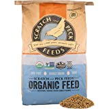 Scratch and Peck Naturally Free Organic Grower Chicken Feed for Chickens and Ducks - 25-lbs - Non-GMO Project Verified, Alway