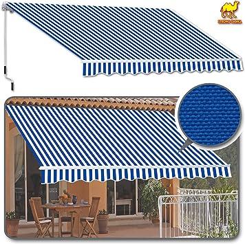Cubierta de toldo retráctil para patio de fuerte camello de 25, 4 cm x 20, 32 cm, toldo para toldo: Amazon.es: Jardín