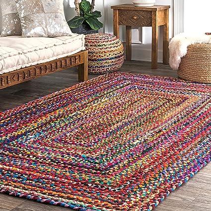Avioni Cotton Chindi Designer Rug-Carpets for Home-Handmade-213cm x 274 cm (~7 x 9 feet)