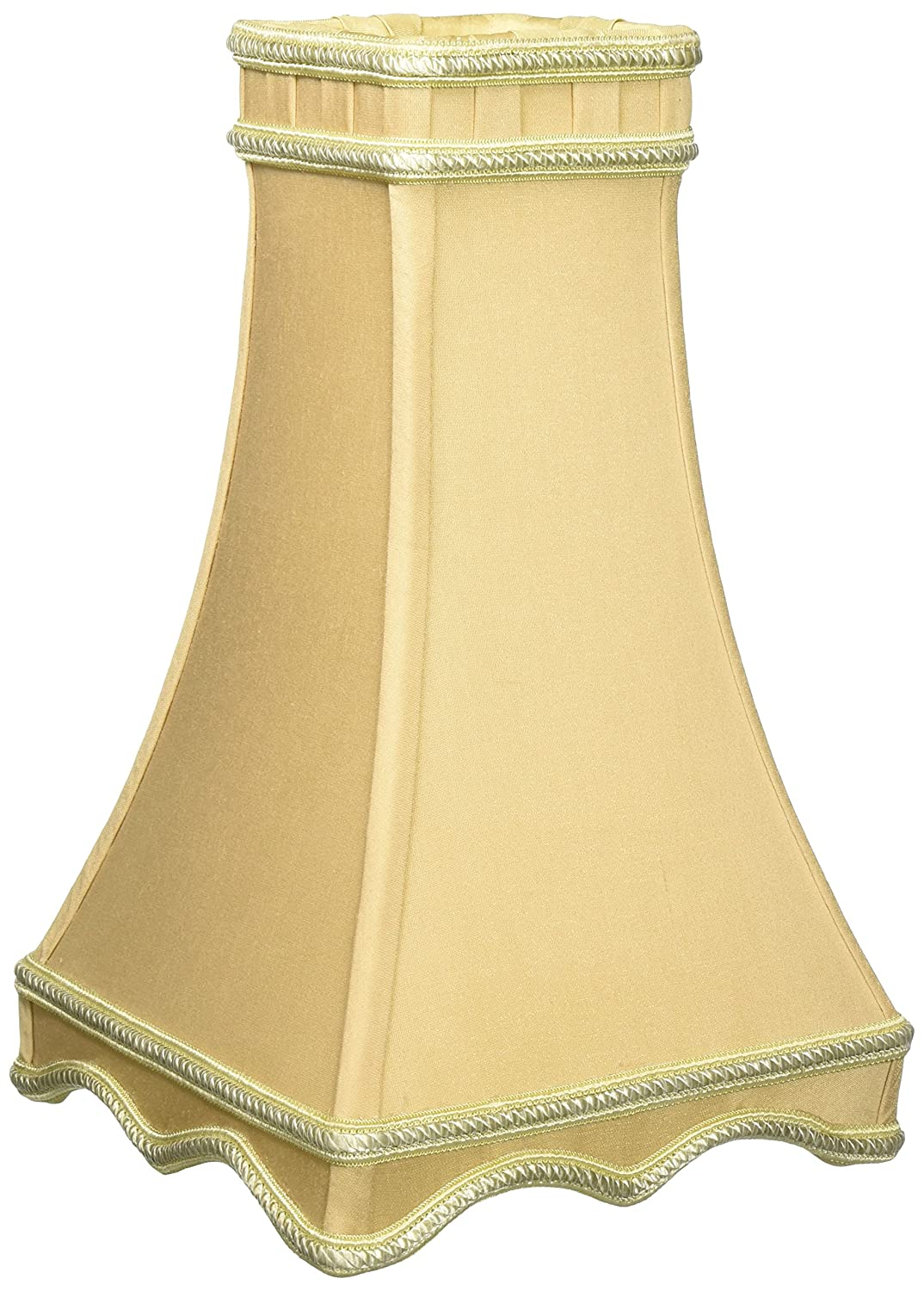 Antique Gold 3.5 x 7 x 12 Inc DS-34-7AGL Royal Designs Square Tower Designer Lamp Shade
