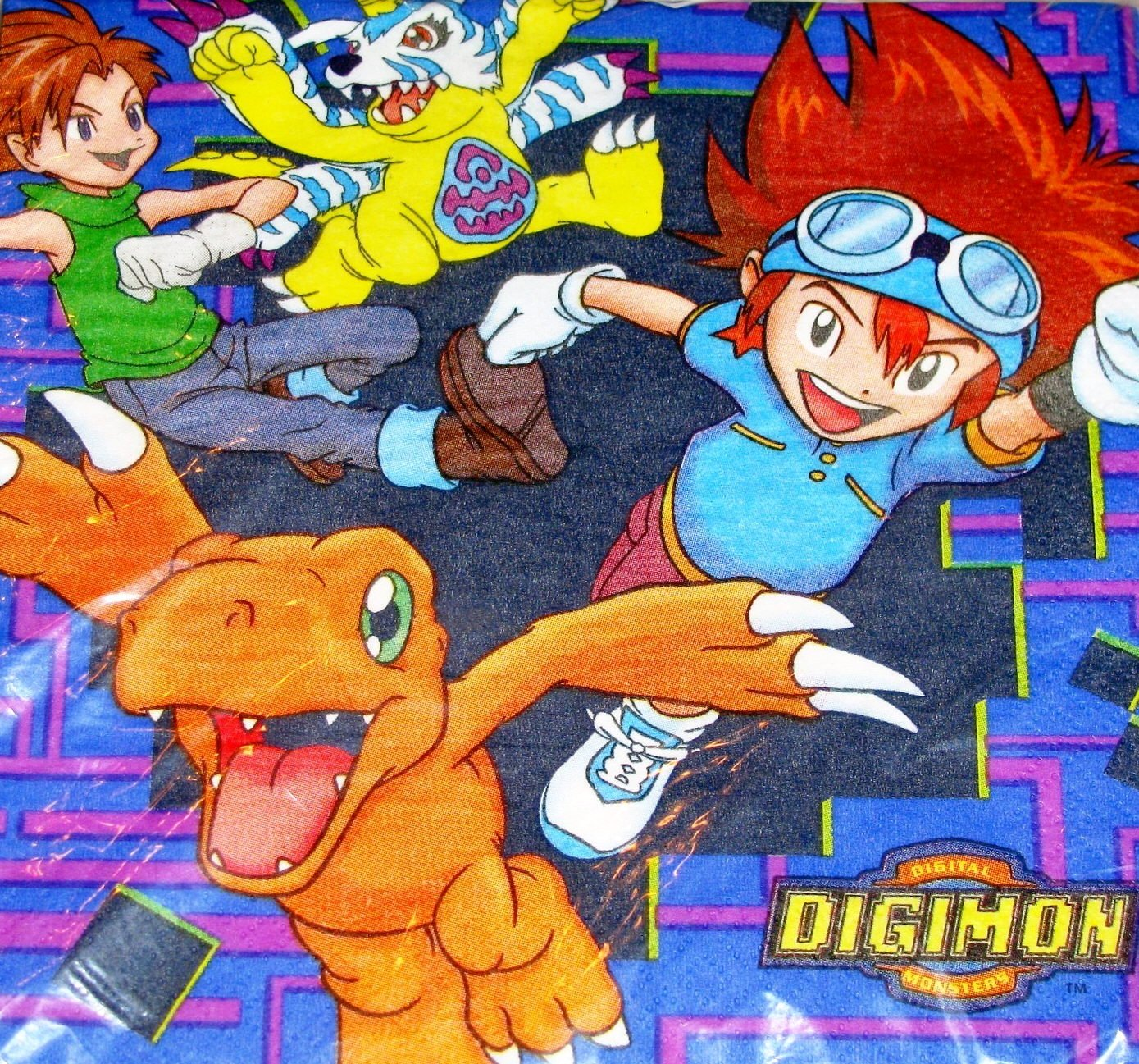 Digital Digimon Monsters Lunch Napkins (16 Count) B008CLD2OA