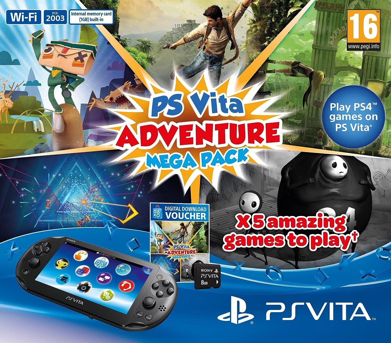 Playstation Vita Console Plus Adventure Mega Pack: 8 GB Memory ...
