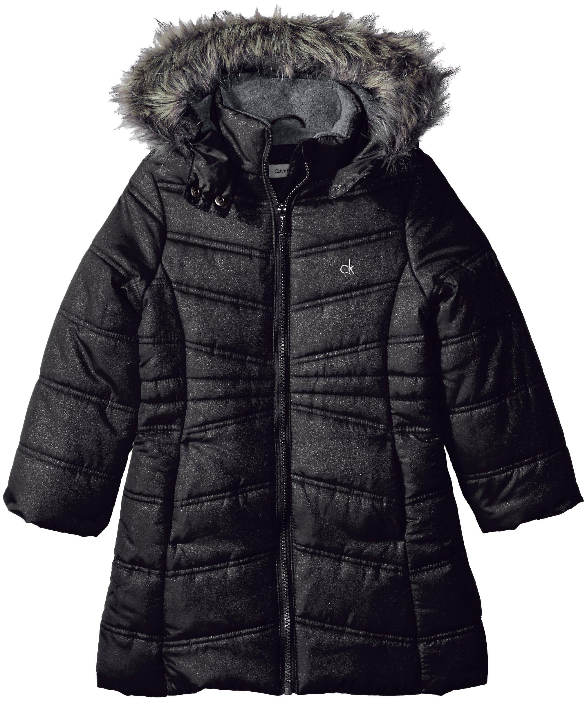 Calvin Klein Big Girls' Alps Jacket, Anthracite, S