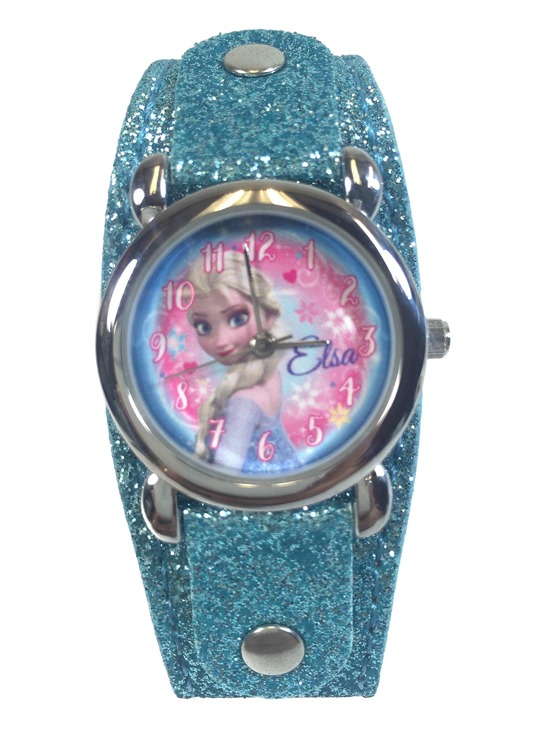 Disney Frozen Watch with Metal Face & Glitter - Baby Blue