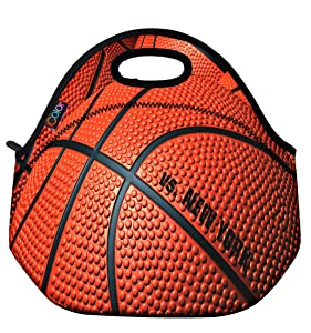 ICOLOR Basketball Insulated Neoprene Lunch Bag Tote Handbag lunchbox Food Container Gourmet Tote Cooler warm Pouch For School work Office