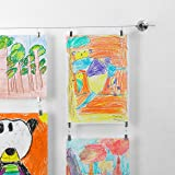 Picture Hanging Wire With Clips | Art Hanger For Kids | Hang Childrens Artwork | Art Hanging Kit | Photo Cable System…