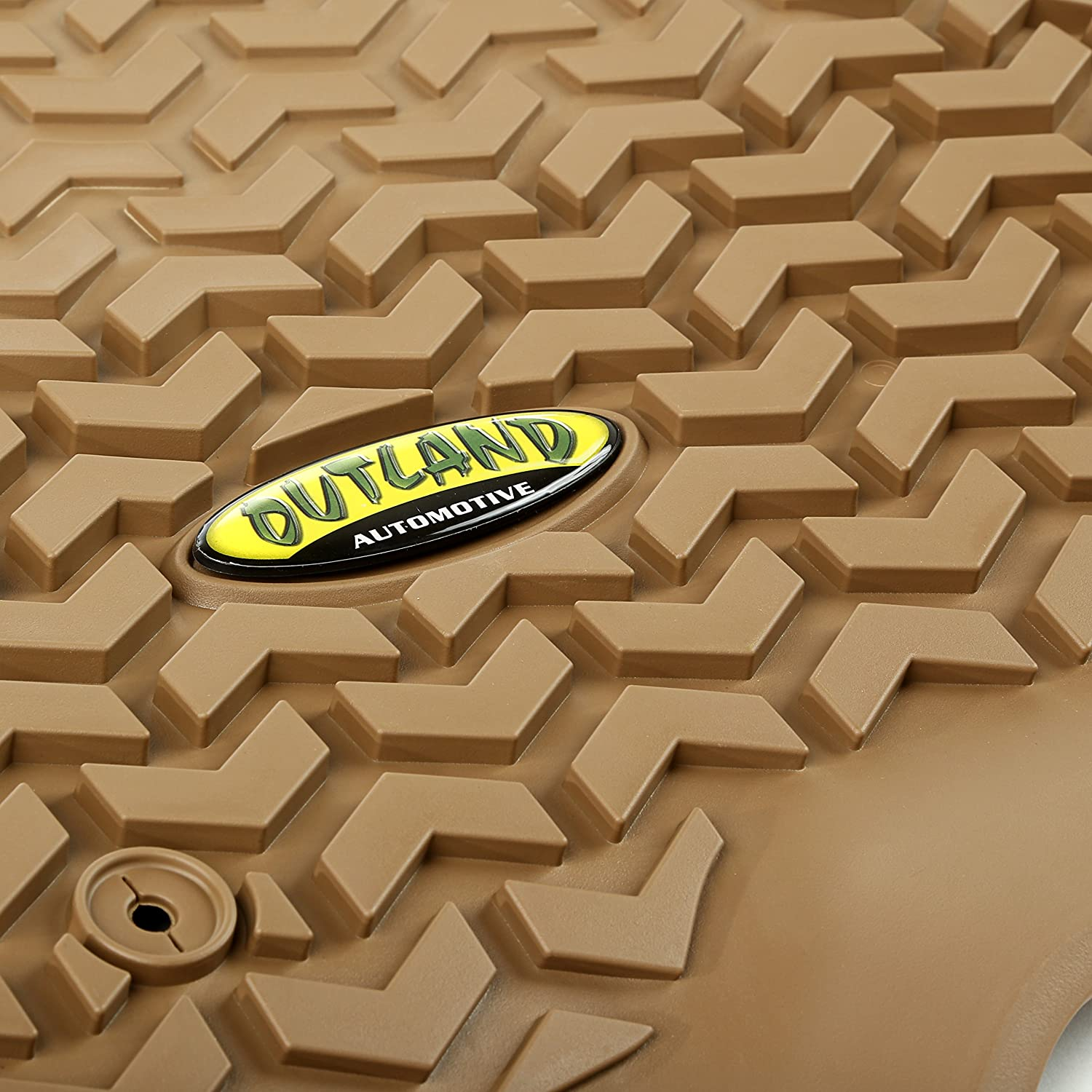 Outland 398490201 Grey Front Row Floor Liner For Select Ford F-150 and Lincoln Mark LT Models