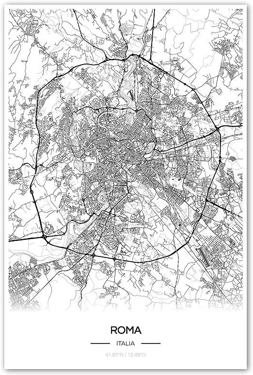 Roma Cartina Turistica Da Stampare.Zulumaps Poster 40x60cm Mappa Della Citta Roma Stampa Artistica Di Alta Qualita Amazon It Casa E Cucina
