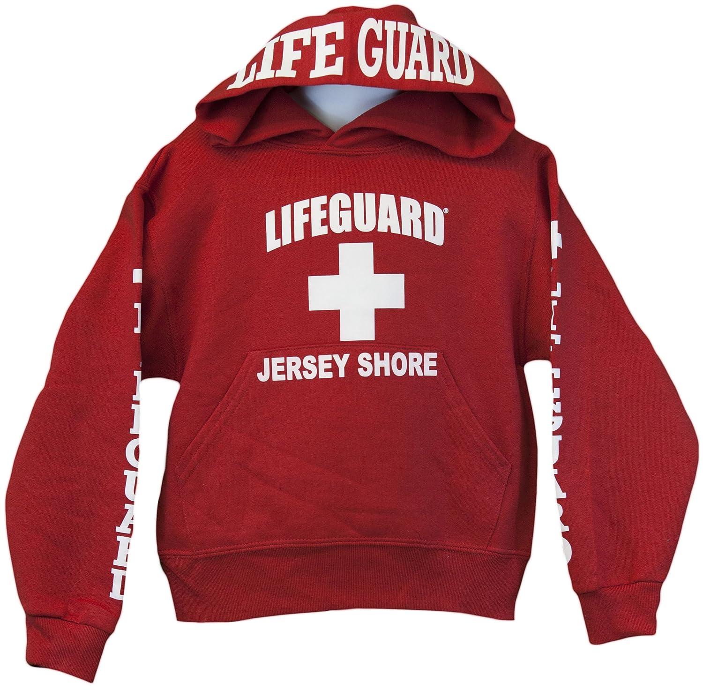Lifeguard Kids Jersey Shore NJ Life Guard Sweatshirt Red