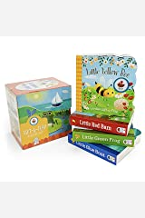 Nature Friends Lift-a-Flap Boxed Set 4-Pack: Little Red Barn, Little Blue Boat, Little Green Frog, and Little Yellow Bee (Chunky Lift a Flap) Board book