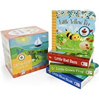 Nature Friends Lift-a-Flap Boxed Set 4-Pack: Little Red Barn, Little Blue Boat, Little Green Frog, and Little Yellow Bee…