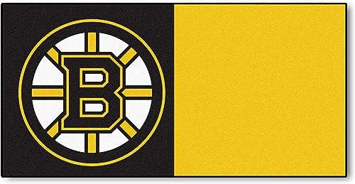 FANMATS NHL Boston Bruins Nylon Face Team Carpet Tiles