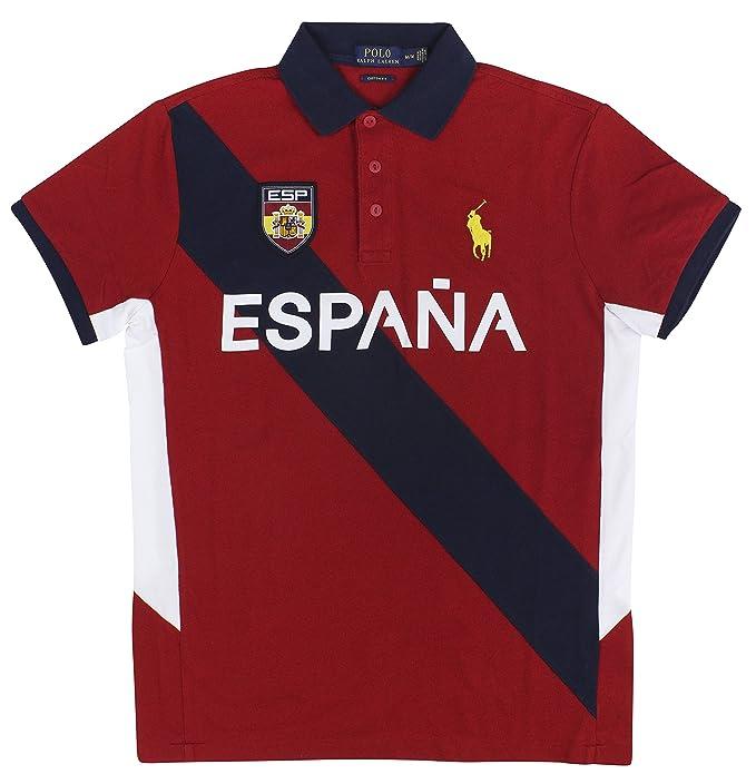 Polo Ralph Lauren para Hombre Big Pony - Canadá Custom Fit Mesh Camiseta  Polo - Rojo -  Amazon.es  Ropa y accesorios fd0925d97b280