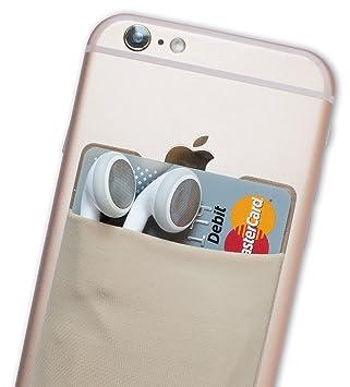 Atkolé Wallet - Funda-Cartera Adhesiva (con pegamento) para Celular con cinta adhesiva (Oro) de 3M. Un accesorio indispensable para celulares, un ...