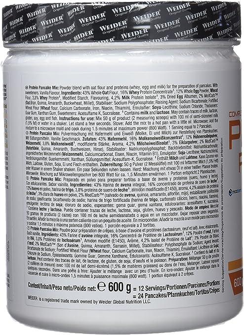 Weider Protein Pancake Mix Vainilla - 600 gr: Amazon.es: Salud y ...
