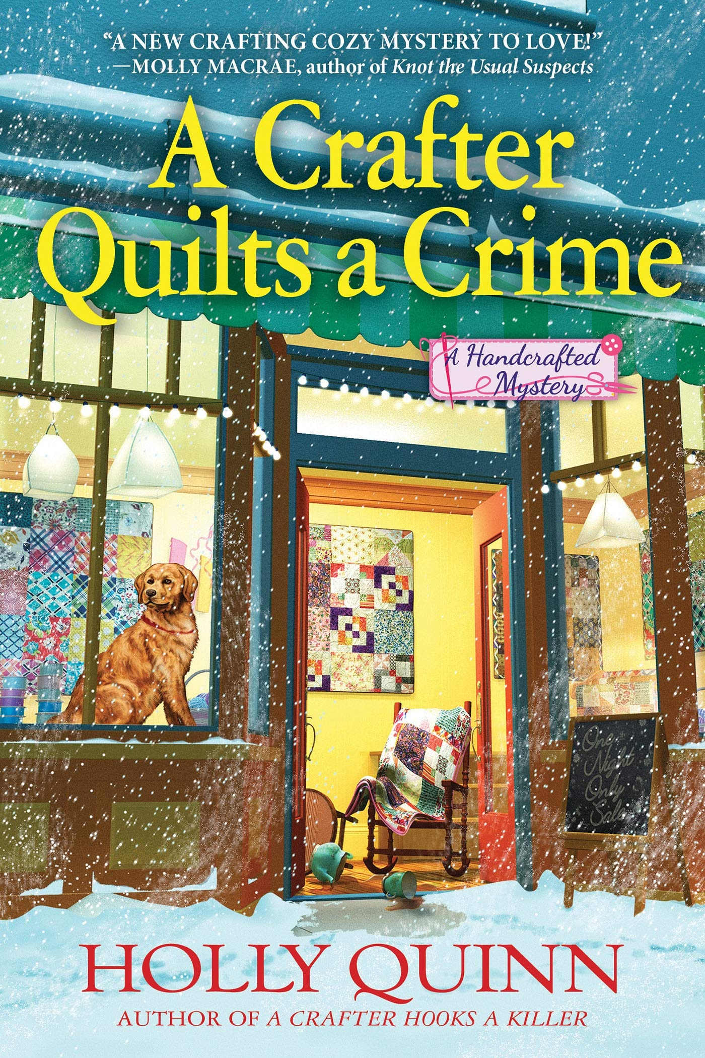A Crafter Quilts a Crime by Holly Quinn {A Book Review}