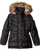 Weatherproof Girls' Bright Mix Stitched Bubble Jacket