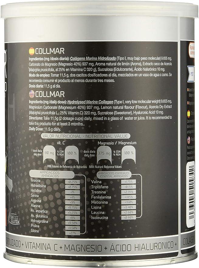 COLLMAR Colágeno hidrolizado con limón + magnesio + vitamina C 300G Drassanvi (pack 3 u.): Amazon.es: Salud y cuidado personal